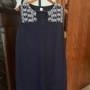GAP, Navy Sleeveless Sheath Dress.